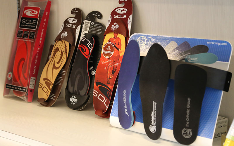 Custom Orthotics Okotoks brands sold in the clinic