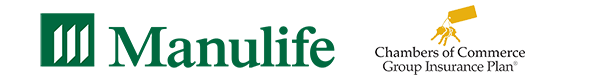 Logo pictures of Manulife and Chamber of Commerce insurance companies